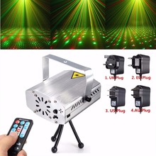 Hot Sale Silver Mini R&G Auto Voice Xmas DJ Disco LED Laser Stage Light Projector Remote