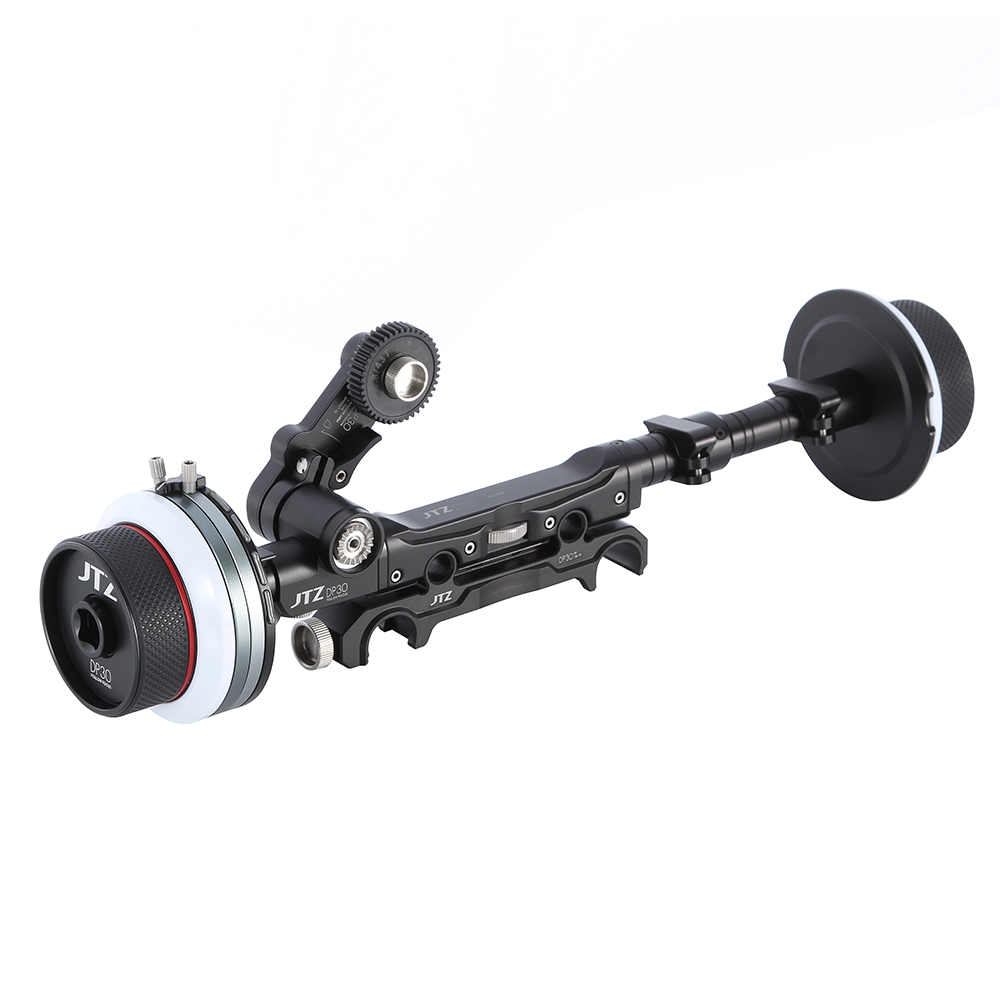 JTZ DP30 Doppia Follow Focus 15mm/19mm KIT per FS700 BMCC C300 C500 A7M2 ARRI ROSSO