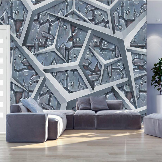 Wall Paper Metal Age Industry Style Decorative Painting Wallpaper For Walls Living Room Backdrop