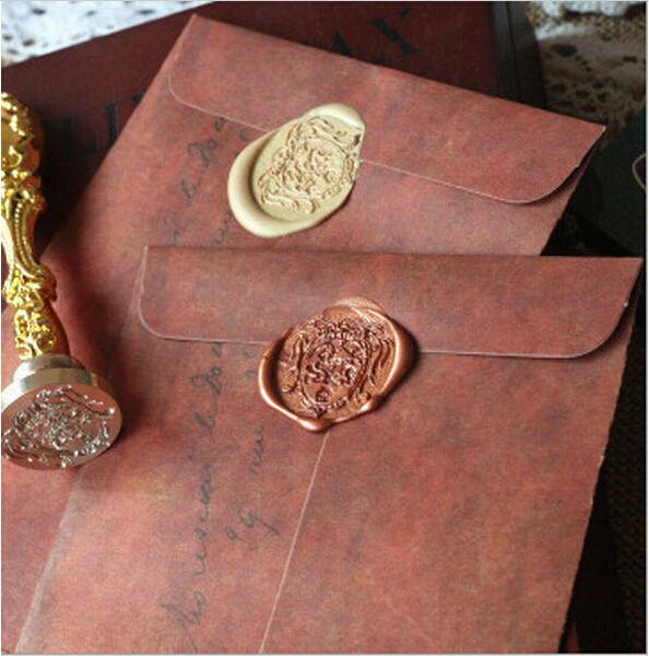 30pcs/lot New Vintage Kraft Paper Envelopes 16*11cm / Antique Kraft Gift Envelope Office & School Supplies G123
