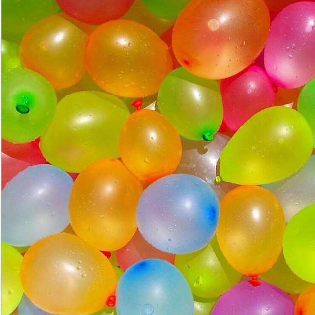 500 pcs Happy Water Bombs Balloons For Birthday Party Summer Children&  Adult Toys Latex Balloons Filling