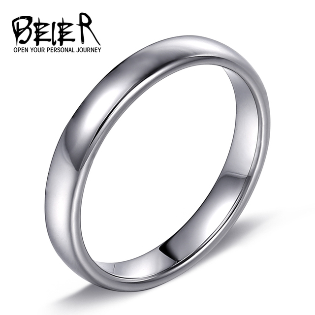 BEIER Classic Simple Plain Design Lovers Rings Couples Wedding & Engagement Fashion High Polished Jewelry  BR-R051