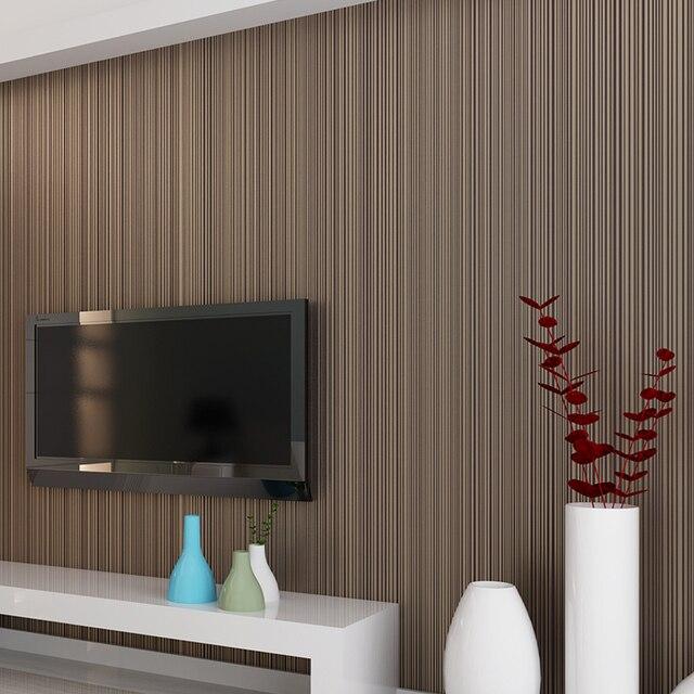 Einfarbig Striped Nicht woven Beflockung Tapete Für Wände Rollen 3D Schlafzimmer Wohnzimmer Klassische Wand Papier Wohnkultur moderne 10M