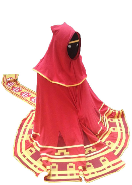 Video Game  Journey Scarf Robe Red Halloween Anime Cosplay Costume Men Women Adults