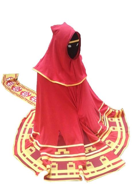 Videospel Red Robe Scarf Halloween Anime Cosplay Kostym Män Kvinnor - Maskeradkläder och utklädnad