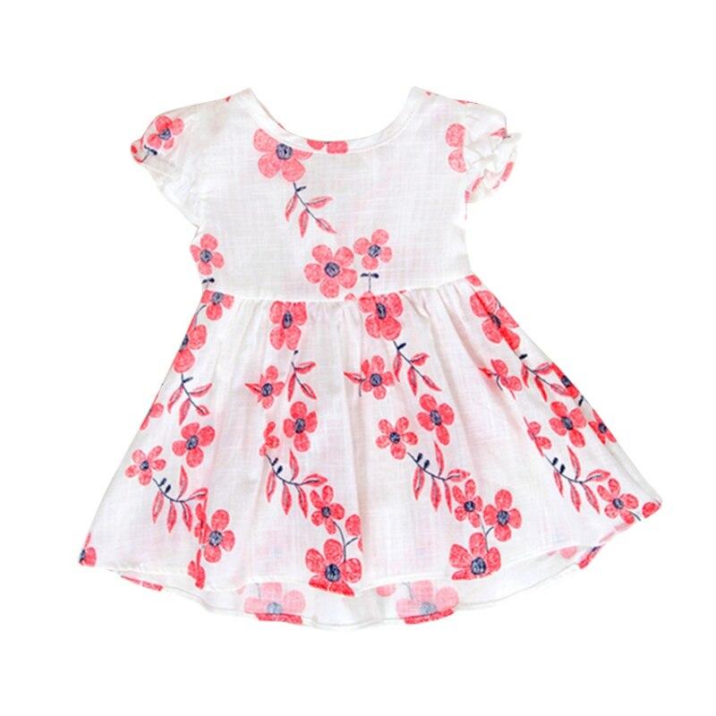 9e7eeece875 Летние Красивое платье для девочек без рукавов длиной выше колена Мягкий  хлопок нарядное платье принцессы мини повседневное пляжное Vestido