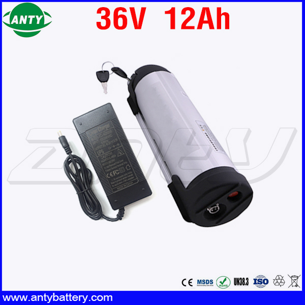 eBike Battery 36v 12Ah 350w Water Bottle Style Lithium Battery 36v for 18650 Cell Built in 15A BMS with 2A Charger Free Shipping 30a 3s polymer lithium battery cell charger protection board pcb 18650 li ion lithium battery charging module 12 8 16v
