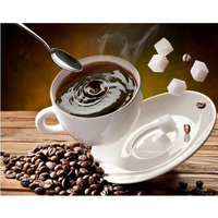 Coffee Diamond Painting Embroidery 5d Diy Diamond Painting For Square Full Drill Rhinestone Embroidered Mosaic Needlework