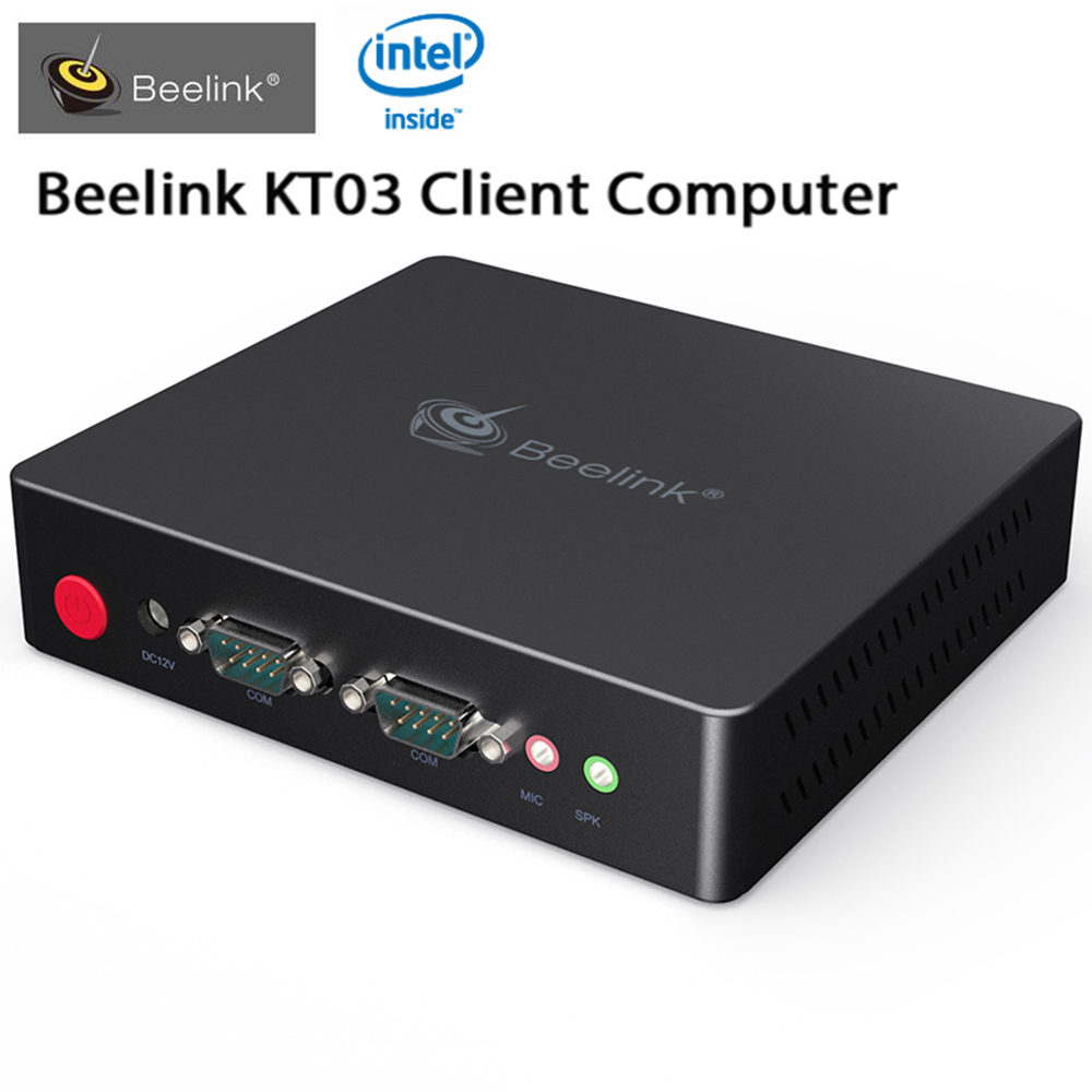 Beelink KT03 Mini PC Client Computer Intel Apollo J3455 TV Box Quad Core 4GB+64GB Support Windows Linux Expansion 4 XUSB 2 XHDMI beelink z83 ii mini pc tv box with intel atom x5 z8350 processor cpu tv box 2g 32g memory support windows 10 and linux system