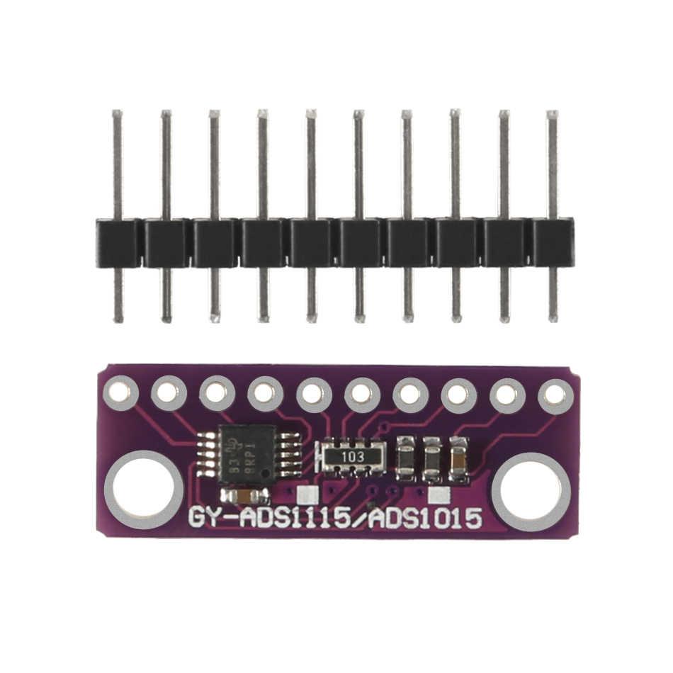 Aokin ใหม่ 16 บิต I2C 4 CH ADS1115/ADS1015 โมดูล ADC บอร์ดสีม่วงสำหรับ Arduino