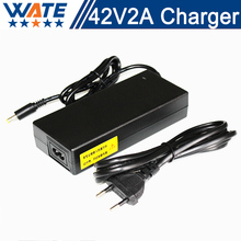 42V 2A Charger 10S 36V Li-ion Battery Charger Output DC 42V Lithium polymer battery Charger Free shipping