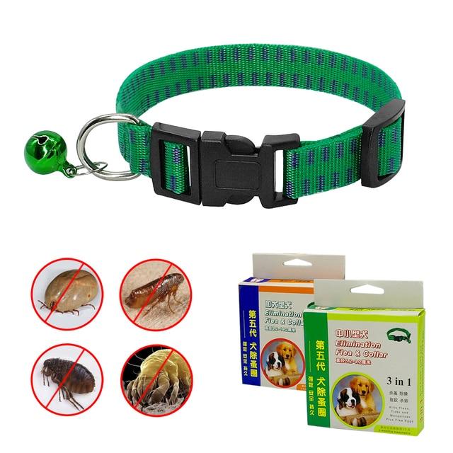 Sicurezza Dog Cat Outdoor Anti Pulci Acaro Tick Collare Collo Cinghia Regolabile