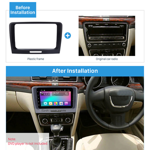 Image 2 - Seicane Black 220 *130 * 210mm 2 Din Car DVD Radio refitting Dash Panel Fascia Frame for 2009 2010 2011 2012 2014 Skoda Superb
