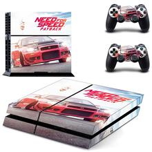 Need for Speed Payback PS4 Skin Sticker For Dualshock PlayStation 4 Console and Controllers PS4 Skin Sticker Decal Vinyl