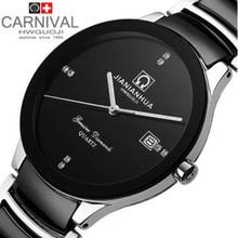 2014 nueva pulsera de cerámica de banda ultra-delgada rhinestone moda casual luxury brand reloj de cuarzo militar impermeable relojes para hombre
