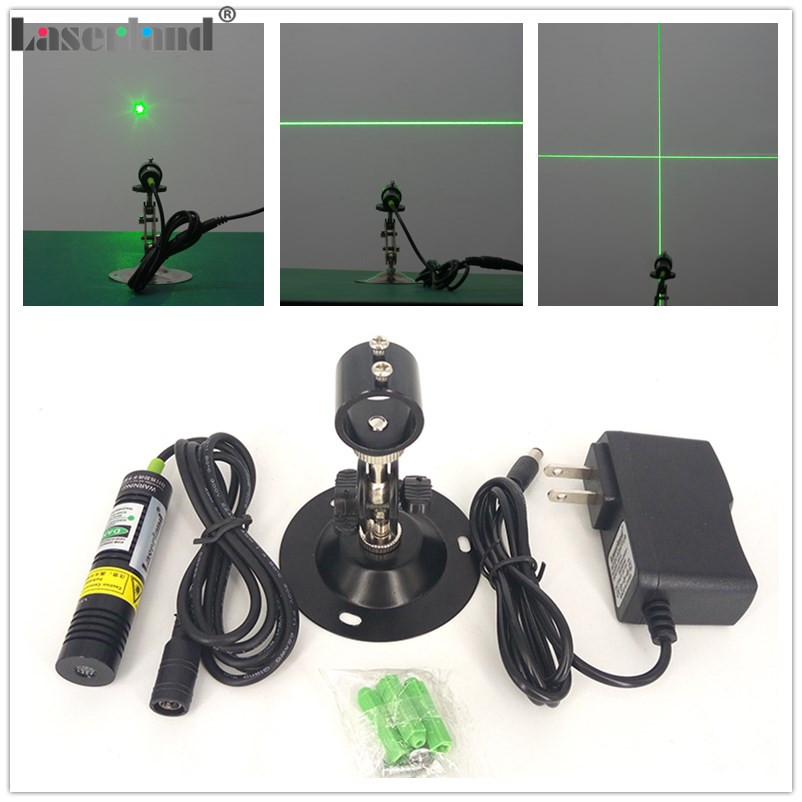 1875 532nm 10mW 20mW 30mW 50mW Dot Line Cross Green Laser Module Diode Locator for Wood Fabric Cutting Cutter Adapter Mount 12 70mm 10mw 30mw 50mw 100mw 150 200mw 532nm green dot line cross focusable laser diode module