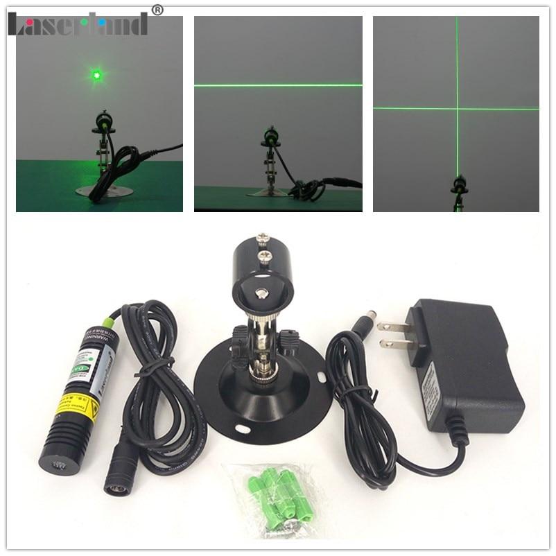 1875 532nm 10mW 20mW 30mW 50mW Dot Line Cross Green Laser Module Diode Locator for Wood Fabric Cutting Cutter Adapter Mount