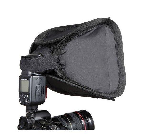23x23 cm Caméra Flash Light Diffuseur Softbox Soft Box Adapte pour Nikon Canon 430EX 580EX 600EX SB800 SB600 SB700 SB900 Speedlite