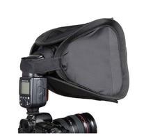 Difusor de luz de Flash para cámara difusor de luz de Flash de 23x23cm, caja blanda compatible con Nikon Canon 430EX 580EX 600EX SB800 SB600 SB700 SB900 Speedlite