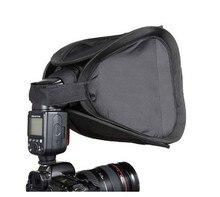 Difusor de luz flash câmera 23x23cm, softbox suave caixa cabe para nikon canon 430ex 580ex 600ex sb800 sb600 sb700 sb900 speedlite