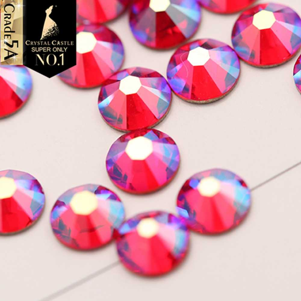 Crystal Castle Hot Fix Rhinestones For Clothes 5A Best Strass Hotfix Art  Crafts Sewing Glass AB Color 861f657f2958