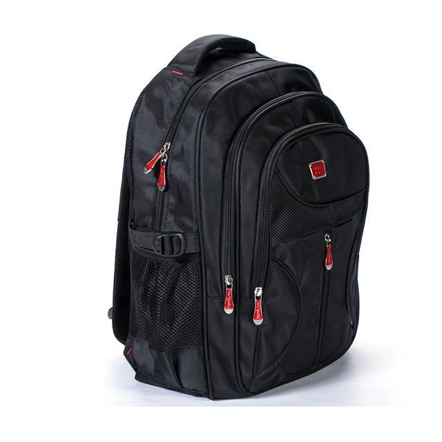 Marea hombres laptop mochila para niños mochila back pack mochila de gran capacidad impermeable de nylon bolso de escuela mochilas de los hombres negros