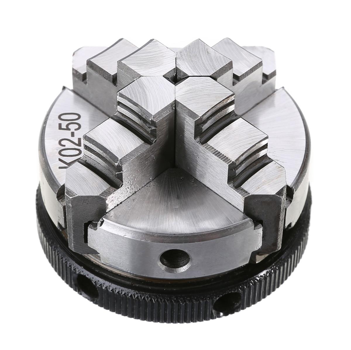 Mini K02-50 4 Jaw Lathe Chuck 2 inch M14 Self-Centering Thread Mount with 2pcs Lock Rod with High Hardness velas k 02
