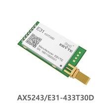 E31 433T30D AX5043 433mhz 1W de larga distancia banda estrecha UART antena SMA IoT uhf módulo receptor transmisor inalámbrico