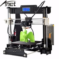 Anet A8 Upgrade Auto Leveling Prusa I3 3D Printer Kit DIY 3d Printer With Aluminum Hotbed