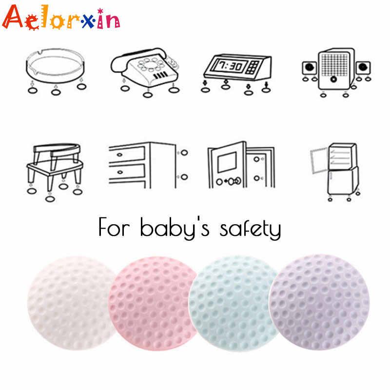 4 unids/lote de amortiguadores de seguridad para bebés, estera de goma de seguridad, estera de protección para tarjeta, tope para puerta, bloqueo para niños, protección para bebés, seguridad