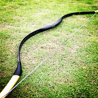 20 60lbs good and beautiful black real snakeskin bow for archery arrows