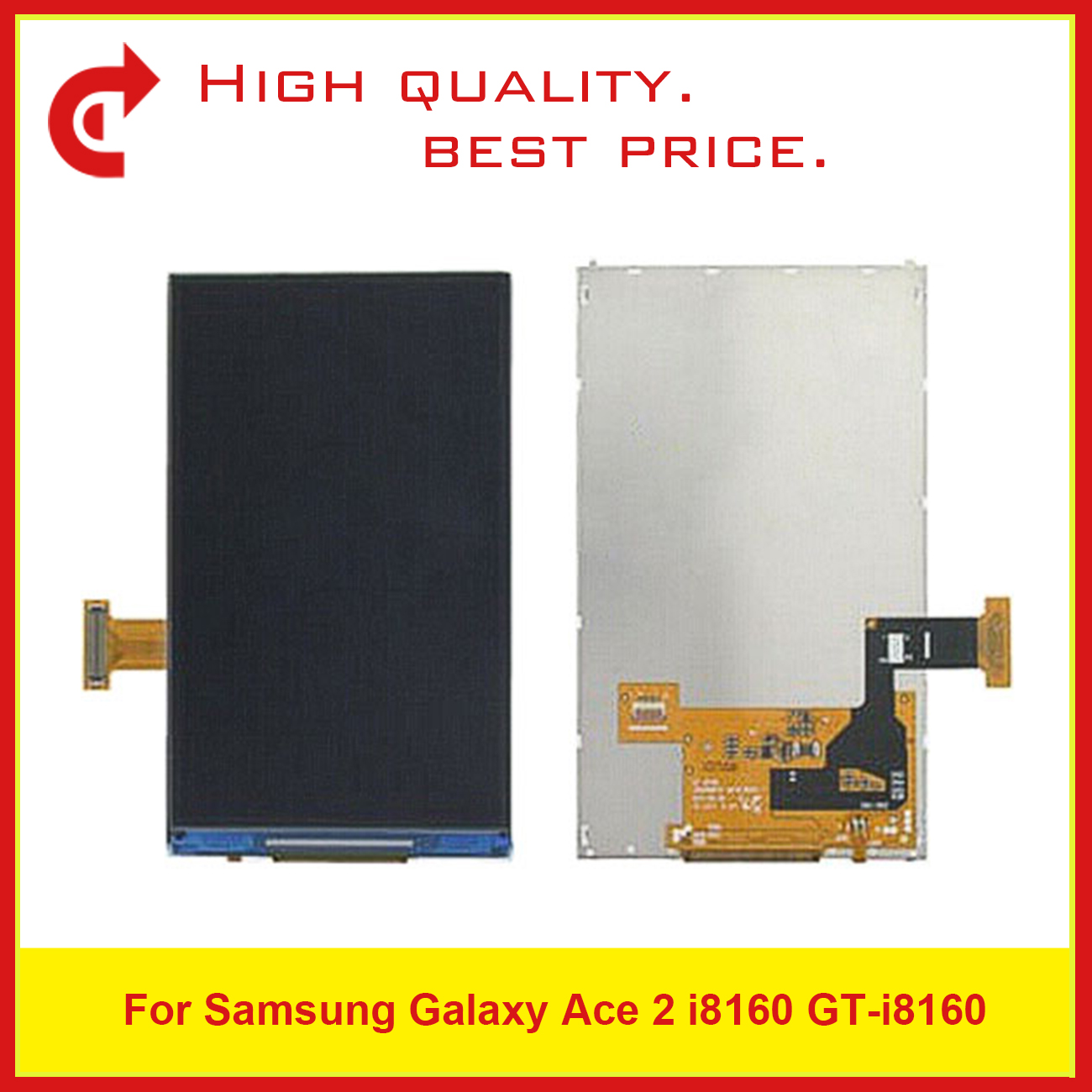 "Image 2 - High Quality 3.8"" For Samsung Galaxy Ace 2 i8160 LCD Display With Touch Screen Digitizer Sensor Panel+Tracking Code-in Mobile Phone LCD Screens from Cellphones & Telecommunications"