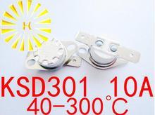 Ksd301 10a 40 300度セラミック250ボルトノーマルクローズ/オープン温度スイッチサーモスタット抵抗× 10ピース送料無料