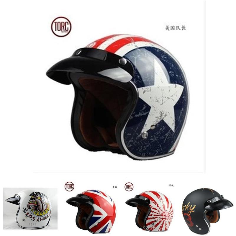 2016 torc helmet T50 vintage retro motorcycle helmet DOT approved harley helmets cascos para moto3/4 Open face motocross casque