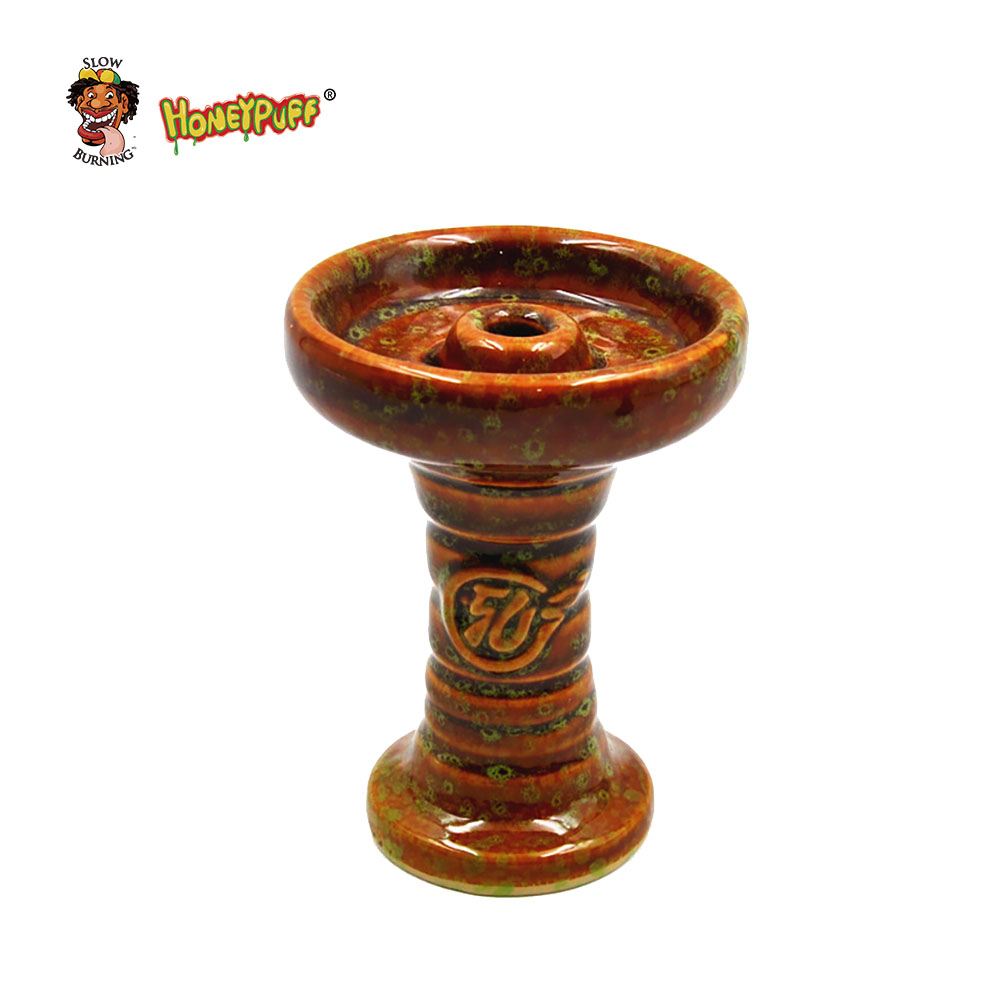 High Quality Keramisk En Hole Phunnel Bowl Hookah Head Shisha Bowl Ferris Bowl Med logo, send Grommet