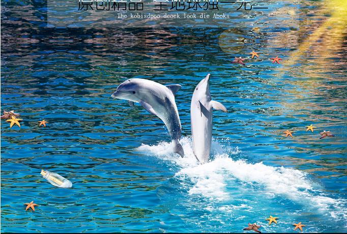 Ristorante 3d pavimentazione sfondi wallpaper delfino 3 d 3d piano