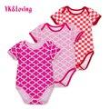Xadrez de manga curta bodysuit moda bebê crianças infantil algodão one piece-vestidos r153s clothing sem taxa de embarque