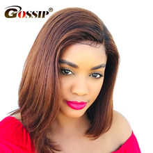 Short Bob Wigs For Black Women Brazilian Straight Human Hair Wigs Remy Hair 13x6 Lace Front Wig Pre Plucked Bob Wig Human Hair(China)