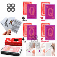 Royal bridge size plastic cards 88*58mm invisible deck for infrared contact lens casino cheat poker magic trick playing cards