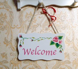 welcome sign decorative door plates shelves for shops garden decoration country style wall plaques zakka home & welcome sign decorative door plates shelves for shops garden ...