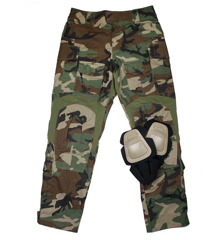 G3 Woodland Combat Pants W/ Knee Pad NYCO Teflon Woodland Tactical Pants+Free shipping(STG050623) vpg wl1406 free shipping higher quality weight lifting knee sleeves for powerlifting crossfit knee pad for women and men