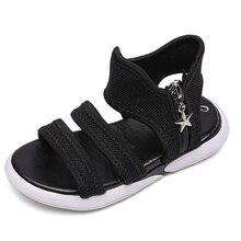 ULKNN Gladiator sandals for Girls fashion sandalies 2019 summer new childrens big kids princess white shoes girls air mesh shoe