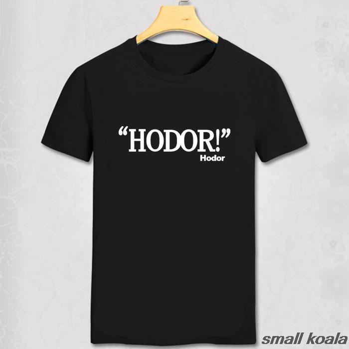 c4311995cb9 Игра престолов рубашка с принтом Для мужчин футболка Ходор Camisetas манга  Курта Camisa masculina футболка