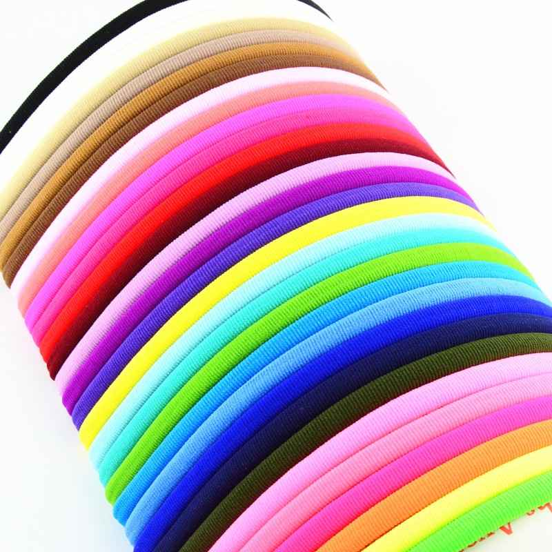 40pcs lot 31color U Pick Bulk Tan Nude Skinny Nylon Headband Spandex Hair Band One Size