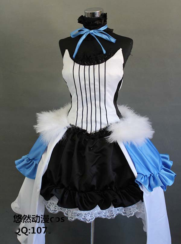 New Arrival Miku Cosplay Costume (The Seven Dragon) From Vocaloid Free Shipping