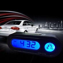 2 в 1 автомобильные цифровые часы автомобильные часы Автомобильный термометр гигрометр украшение орнамент мини часы в автомобиле-Стайлинг