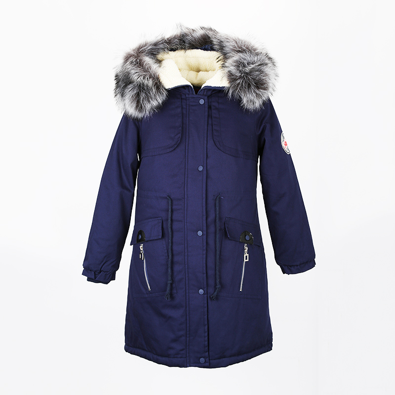 New Women Parkas Jacket Winter Warm Cotton-padded Coats Plus Size Cold-Resistance Lambswool  Outwear Woman's Thick Long Coat 2017 new female warm winter jacket women coat thick down cotton parkas cotton padded long jacket outwear plus size m 3xl cm1394