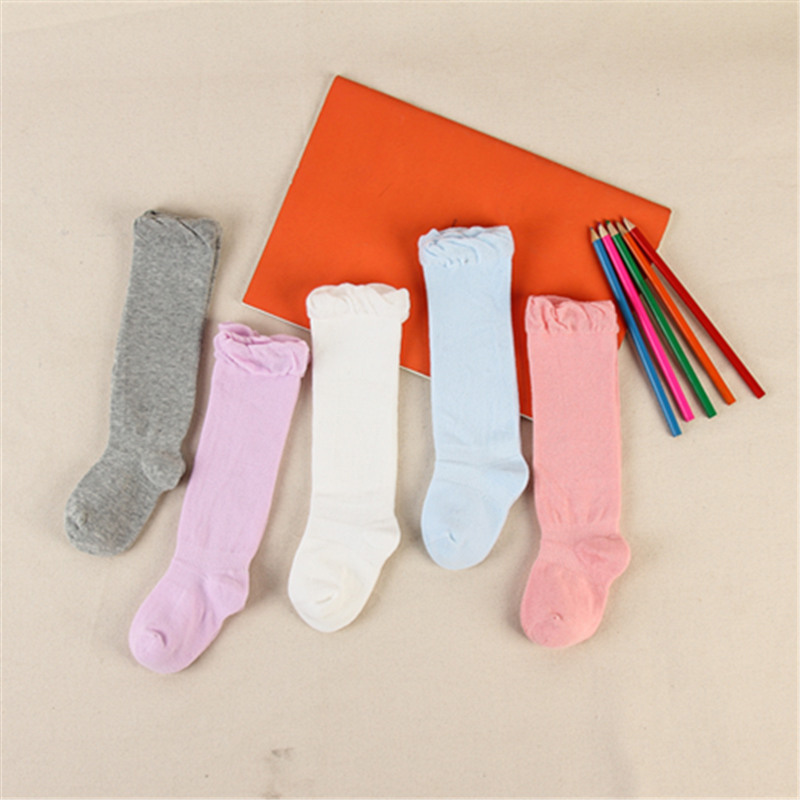 High-Knee Socks Babys Sock Cotton School Soccer Boots Sport Long Leg Socks  For 0-6years Kids