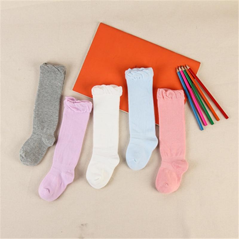High-Knee Socks Babys Sock Cotton School Soccer Boots Sport Long Leg Socks  For 0-6years Kids