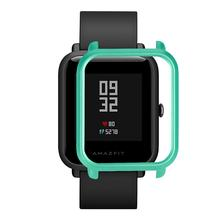 Smart Watch Protector Case Slim Colorful Frame PC Case Cover Protective Shell For Huami Amazfit Bip Youth Watch